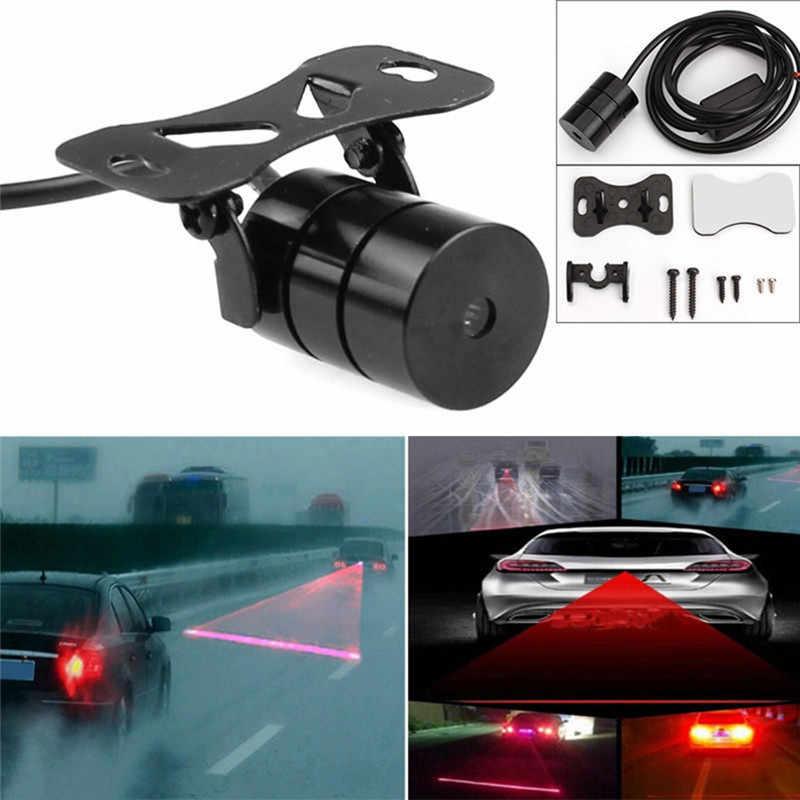 Anti Collisionเลเซอร์ไฟท้าย 12V LEDรถหมอกไฟเบรคที่จอดรถโคมไฟคำเตือนไฟรถ-จัดแต่งทรงผมร้อนขาย
