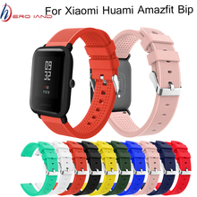 Hero Iand Silicone Sport Strap For Xiaomi Huami Amazfit Bip Smart Watch 20MM Replacement Band Bracelet Accessories