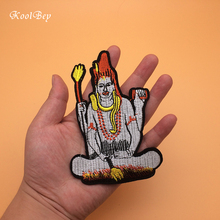 50pcs lot Buddha Embroidery Patch For Clothing Iron On Embroidered Appliques DIY font b Apparel b