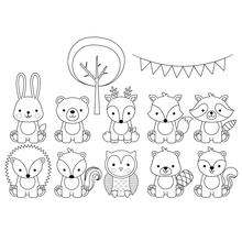 animals Transparent Clear Silicone Stamp/Seal for DIY scrapbooking/photo album Decorative clear stamp
