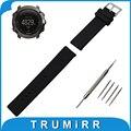 24mm faixa de relógio de borracha de silicone para suunto atravessar malha pattern resin strap pin fivela de aço inoxidável correia de pulso pulseira