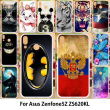 Anunob ze620kl For Asus Zenfone 5z ZS620KL Case Silicone TPU Soft Covers ASUS Zenfone 5 ZE620KL 6.2 Painting Batman Cartoon чехол книжка asus для zenfone 5z zs620kl ze620kl black 90ac0340 bcv001