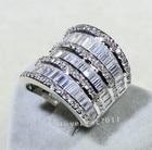 choucong Luxury Women Jewelry AAAAA zircon cz 925 Sterling silver Engagement Wedding Band Ring for women Sz 5-11 Gift