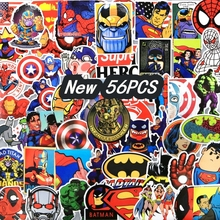 New 56 pcs Super Hero Thanos Glove stickers Batman Cartoon Stickers For Kids Children Luggage Notebook