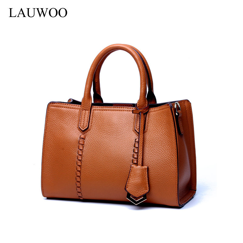 LAUWOO Luxury brand Women fashion cow leather handbag Female Casual Leisure Crossbody Bag Lady 's Genuine Leather tote bags luxury genuine leather bag fashion brand designer women handbag cowhide leather shoulder composite bag casual totes