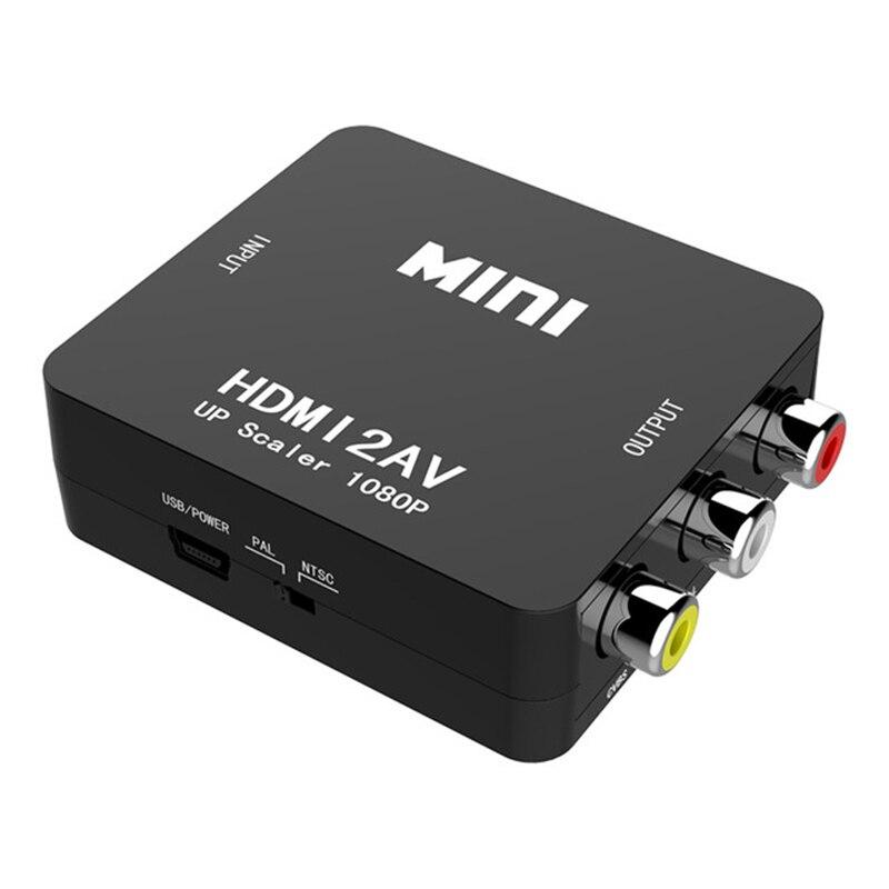 Jckel hdmi para rca av cvbs componente conversor scaler 1080 p adaptador caixa de cabo para monito l/r vídeo hdmi2av hd suporte ntsc pal