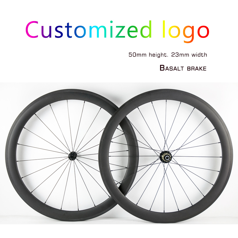 Customized Road Bike Carbon Wheels 700C 50mm width Clincher Tubular Full Carbon Fiber Bicycle Wheelset Carbon Bike Road Wheels 2017 new carbon wheel set for road bike frame road carbon wheels free shipping 700c 50mm carbon clincher wheelset