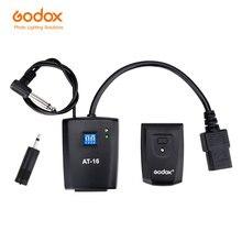 Беспроводной студийный триггер Godox AT 16 для Canon, Nikon, Pentax, Olympus, Samsung, 16 каналов, Питание переменного тока, скорость синхронизации 1/200s