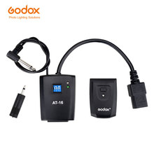 Godox AT 16 disparador de Flash inalámbrico para estudio para Canon, Nikon, Pentax, Olympus, Samsung, 16 canales, AC Power, Sync Speed 1/200s