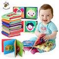 Squeaky macio livro de pano brinquedo do bebê mordedor crianças early learning & educação animais livro macio bebê chocalhos infant toys