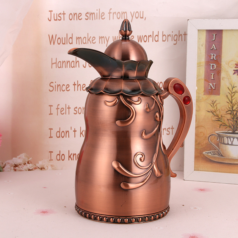 1000ML European Style Bronze Teapot Metal Tea Kettle Durable Water Pot Delicate Handmade Coffee Tea Kettles