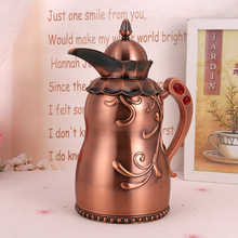 1000ML European Style Bronze Teapot Metal Tea Kettle Durable Water Pot Delicate Handmade Coffee Kettles