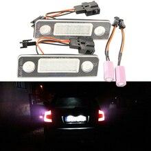 2 шт. автомобиля светодиодный Подсветка регистрационного номера 12 В SMD3528 VW лампой номерной знак CANBUS лампы Комплект для Volkswagen Skoda Octavia 1Z ROOMSTER 5J