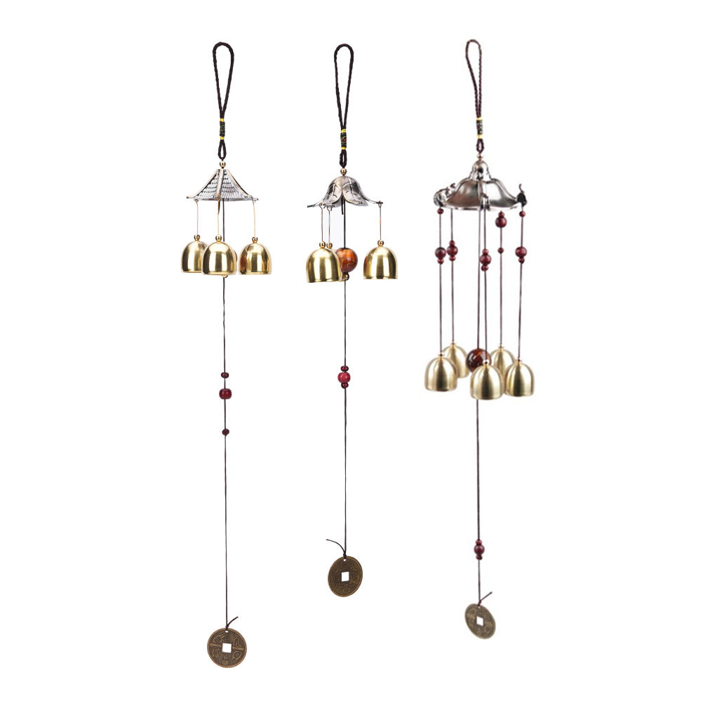 new large copper wind chimes antirust bell outdoor decorations birthday gifts to friends and best wishes - Windchimes