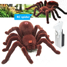 Halloween Remote Control 2CH Infrared Realistic RC Spider Toy Decoration Party Stage Props Prank Gift electronic