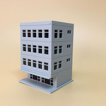 DIY 1:87 Model Train Ho/1:150 N Scale Small  Office Architecture Sandbox Scene Plastic Assembly Building Kits