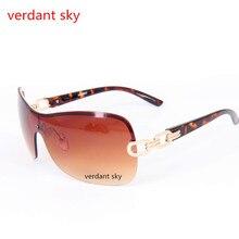 2017Uv400 trend luxury frameless Sunglasses Women brand designer with chain logo glasses alloy gun Sunglasses lady free shipping