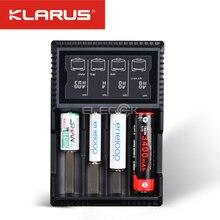 เดิมKlarus CH4Sสมาร์ทชาร์จแบตเตอรี่ACการป้อนข้อมูลUSB 4สล็อตจอแอลซีดีอัจฉริยะชาร์จแบตเตอรี่สำหรับC AA AAA 18650 26650 14500