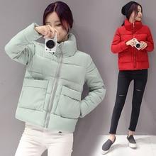 New Winter Jacket Women Fashion Casual Thick print Coat Lady Clothing Female Jackets Down Parkas Green white Black Parka M-2XL