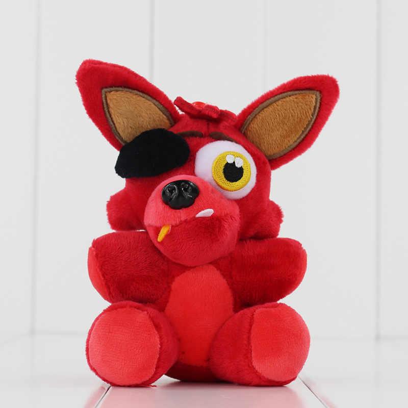 13-18cm cinco noites no freddy brinquedo de pelúcia fnaf foxy mangle freddy fazbear coelho frango recheado pingente boneca com saco de presente