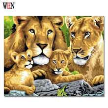Lion Wall Pictures Painting By Numbers New Year Gift On Canvas DIY Handpainted Arts Coloring numbers Home Room Decor