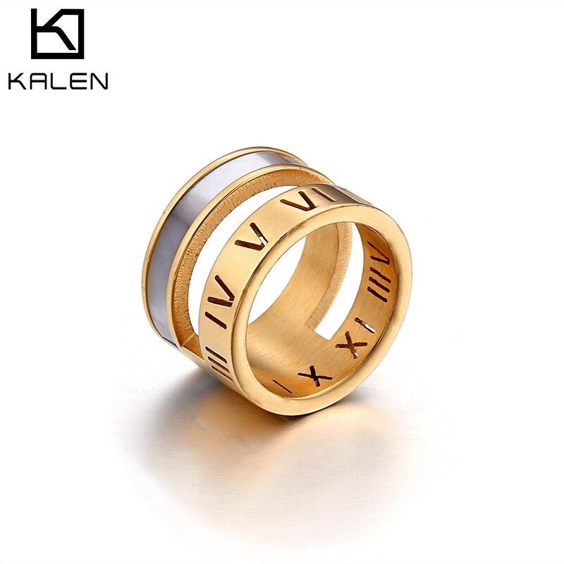 KALEN Jewelry Rings Gold & Silver Stainless Steel Wedding