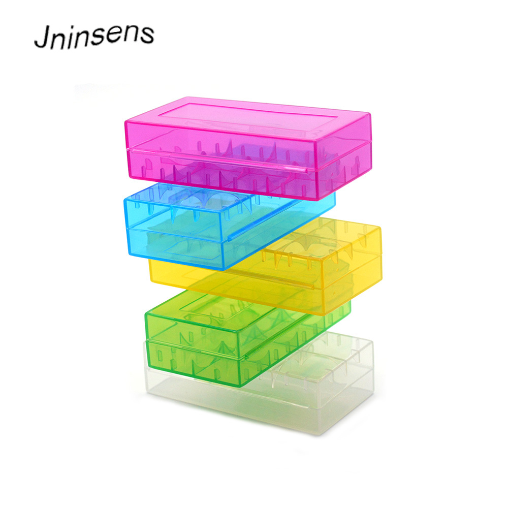 Wholesale New Hard Plastic Battery Protective Storage Boxes Cases Holder For 18650 18350 CR123A 18500 Battery Free Shipping