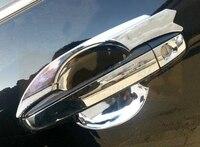 더 높은 별 ABS 크롬 4pcs 자동차 도어 핸들 장식 그릇 도요타 캠리 2012-2017 로고와 함께