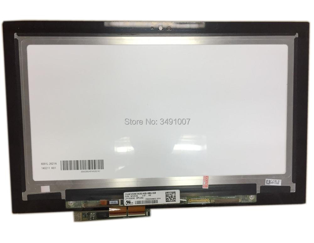 LP116WH6 SPA2 LCD Touch Screen Assembly Replacement For Dell Inspiron 11 3147 3148 3000 vga hdmi lcd edp controller board led diy kit for lp116wh6 spa1 lp116wh6 spa2 11 6 inch edp 30 pins 1lane 1366x768 wled ips tft