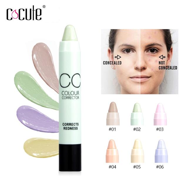 1 pieza de maquillaje de contorno de cara Corrector de lápiz Corretivo palo Corrector de resaltador para círculo y punto y acné