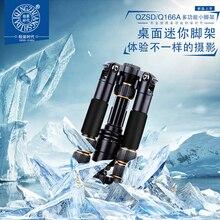 Q166A alta qualidade tabela de alumínio tripé portátil mini tripé 2 seção uso flexível tripé de câmera com cabeça e monopdod