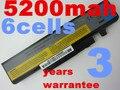 5200 mah batería de repuesto para lenovo l09n6d16 l09s6d16 l10l6y01 l10l6y01 l10n6y01 l10s6y01 para ideapad y460 y560 b560 v560