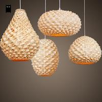 Handmade Craft Bamboo Wicker Rattan Lantern Lampshade Pendant Light Fixture Asian Japan Lamp Abajour Lighting Bar Restaurant