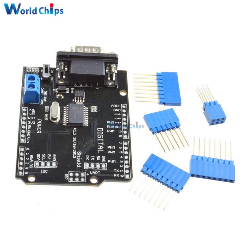1set mcp2515 can bus shield board spi interface 9 pins. Black Bedroom Furniture Sets. Home Design Ideas