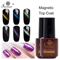 Saviland 1pcs Cat's Eye Effect Magnet Top Coat Nails Gel Polish Soak Off UV Cat Eye Gel Lacquer Magnetic Top Coat Vernis
