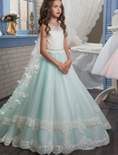 Butterfly Girl Dresses for Weddings Mint Green  Kids Holy Ball Gown Communion For Girls Pageant Gowns