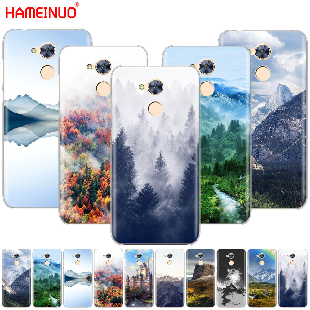 HAMEINUO Mountain Forest Clouds Cover phone Case for Huawei Honor 10 V10 4A 5A 6A 7A 6C 6X 7X 8 9 LITE