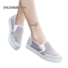 купить 2018 Summer Women Casual Shoes loafers Female Platform Shoes Slip On Women Tenis Feminino Casual Ladies Flats Silver Sneakers дешево