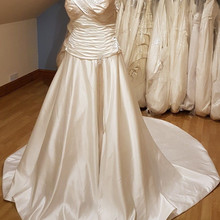 kejiadian Vestido De Noiva satin Wedding Dresses train