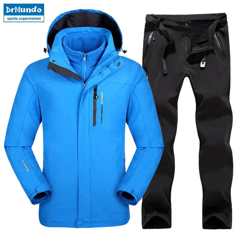 Grande taille hommes Ski Ski-wear imperméable randonnée extérieur veste Snowboard veste Ski costume hommes grande taille vestes de neige - 3