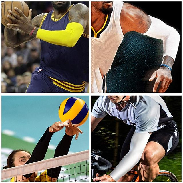 WorthWhile Sports Arm Compression Sleeve Basketball Cycling Arm Warmer Summer Running UV Protection Volleyball Sunscreen Bands 5