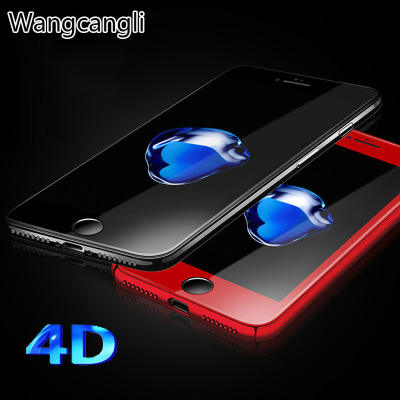 wholesale 10pcs 4D Full Cover Tempered Glass for iPhone 6 6s glass Premium Screen Protector for iphone 7 7plus Protective Film