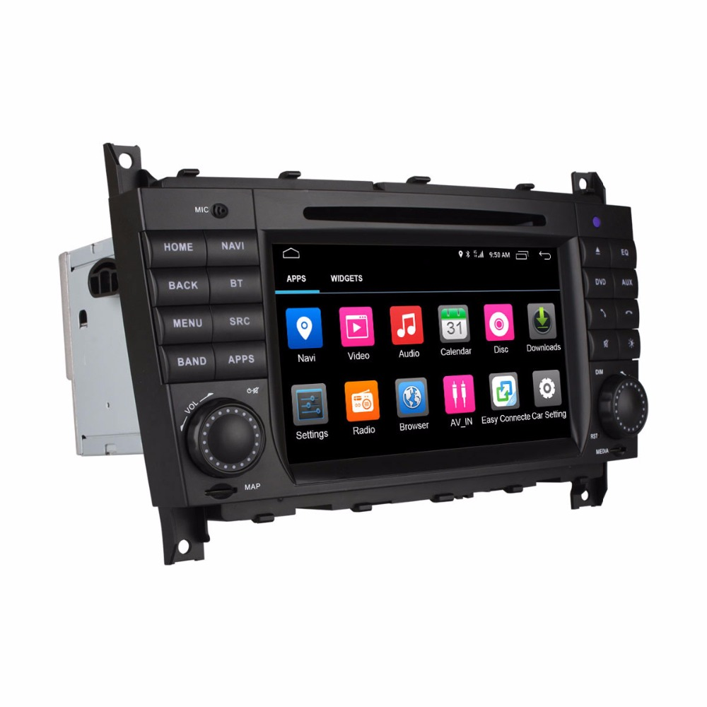 ANDROID GPS DVD font b Multimedia b font Video Player for Mercedes Benz MB W219 W203