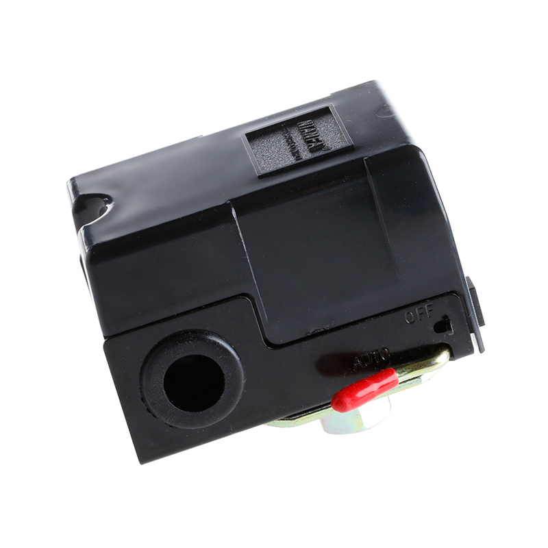 1 Port Air Compressor Pressure Control Switch 95-125PSI On/off Lever 220V 24a 16a 95 125psi manual dual pressure switch control valve for air compressor