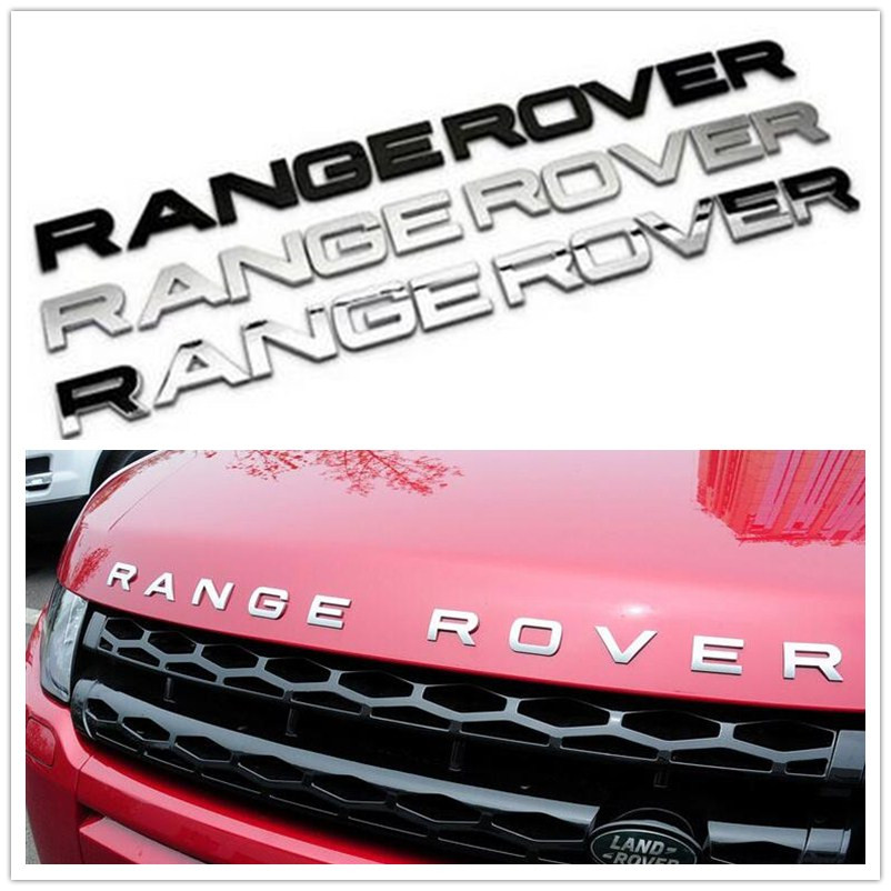 Car Styling Front Or Back Car Emblem Cover Sticker Letters Sports Style Case accessories for Range Rover sport evoque discovery center armrest rear back row passenger air vent decorative cover sticker trim for range rover evoque interior accessories