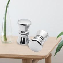 Puxador para porta de vidro deslizante, puxador redondo com buraco único, 2, pçs/lote e 3.5cm para porta de chuveiro, cabos e chuveiro, acessórios peças do quarto