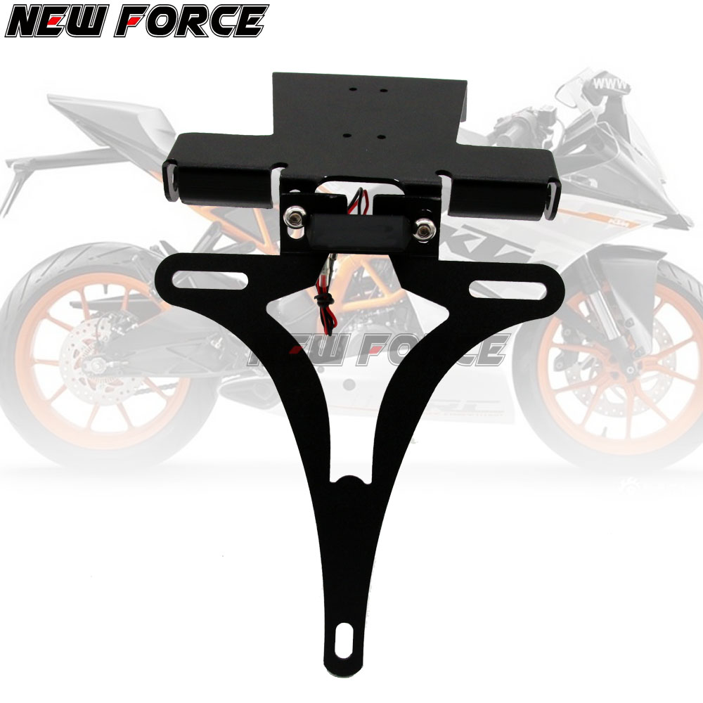 For KTM RC125 RC200 RC390 RC 125 200 390 Motorcycle Fender Eliminator License Plate Holder Frame with Turn signal lights in Covers Ornamental Mouldings from Automobiles Motorcycles