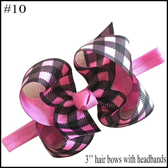 free shipping 10pcs Buffalo Plaid bows christmas Hair Bows With Clips plaid Kids Girls Princess Handmade Boutique bows - Цвет: 2018102402010