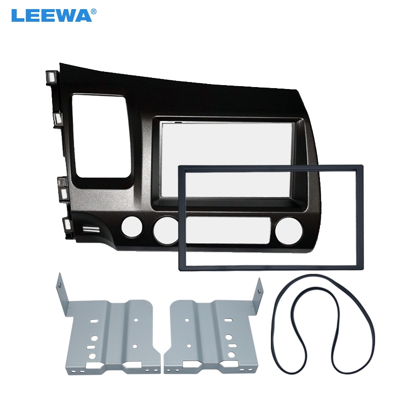 Adaptateur de cadre de panneau de Fascia Audio d'autoradio LEEWA pour Honda CIVIC (LHD) 2DIN Kit d'installation de cadre de plaque stéréo # CA4417