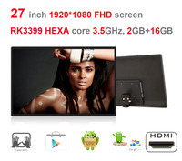HEXA Core 27 Inch Android7 1 Self Order Screen Smart Kiosk All In One Pc RK3399